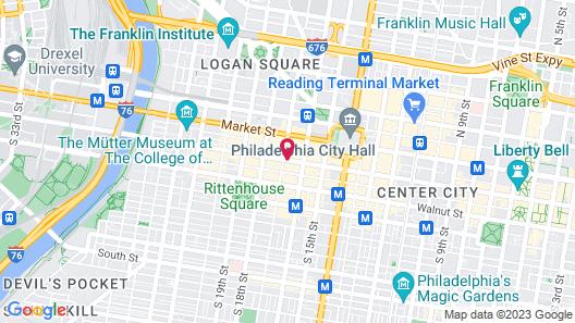 Club Quarters Hotel in Philadelphia Map
