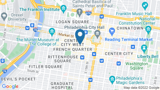 Club Quarters Hotel in Philadelphia Map