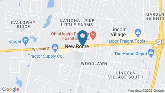 New Rome Motel Map