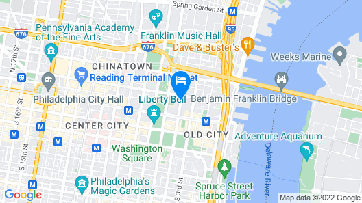 Wyndham Philadelphia Historic District Map