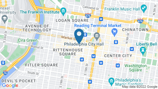 The Westin Philadelphia Map