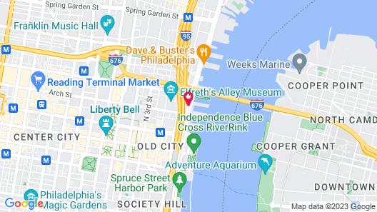 Holiday Inn Express Philadelphia - Penns Landing Map