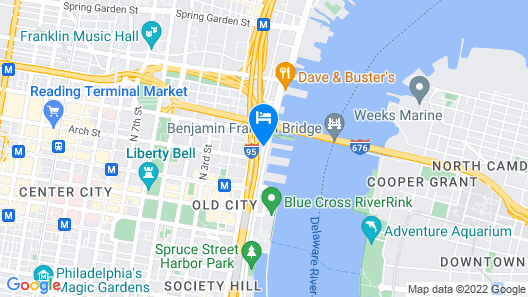 Holiday Inn Express Philadelphia - Penns Landing, an IHG Hotel Map