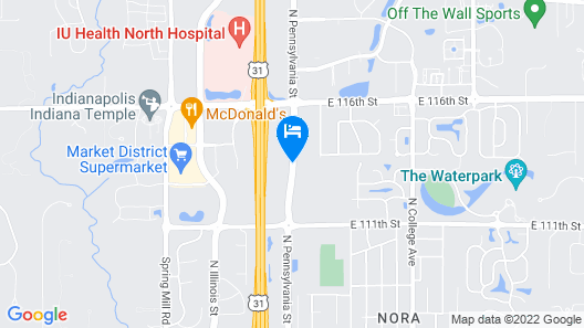 Homewood Suites by Hilton Indianapolis Carmel Map