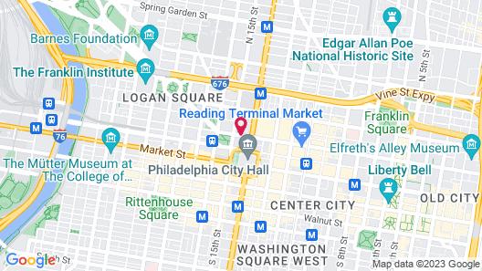 Le Meridien Philadelphia Map