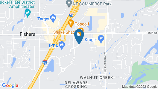 Hyatt Place Indianapolis / Fishers Map