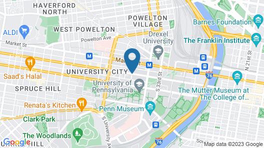 Sheraton Philadelphia University City Hotel Map