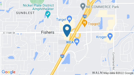 Hampton Inn and Suites Indianapolis - Fishers Map