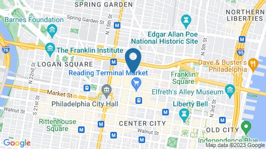 Four Points by Sheraton Philadelphia City Center Map