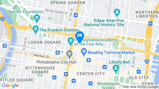 Hampton Inn Philadelphia-Center City-Convention Ctr Map