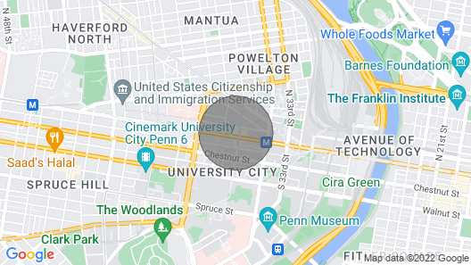 The Luxe Suites at University City Map