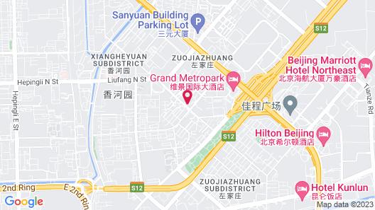 Grand Metro Park Hotel Beijing Map