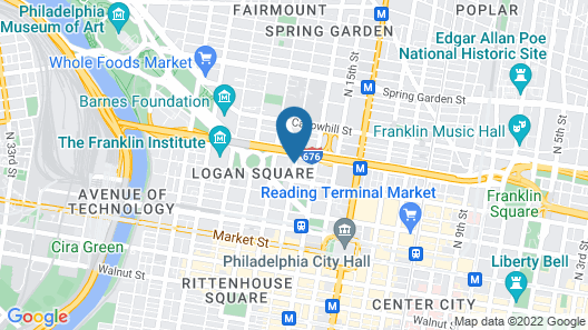 Sheraton Philadelphia Downtown Map
