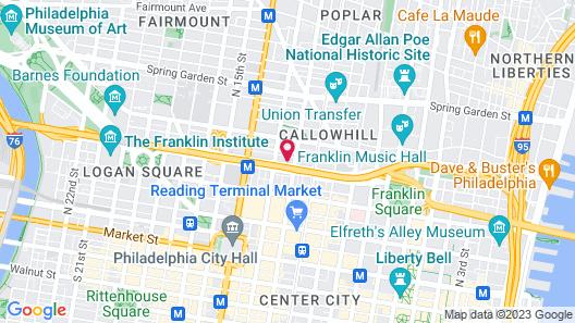 Best Western Plus Philadelphia Convention Center Hotel Map