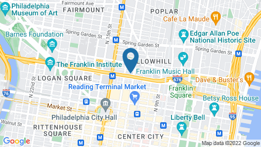 Best Western Plus Philadelphia Convention Center Hotel Map