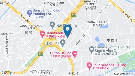 Beijing Marriott Hotel Northeast Map