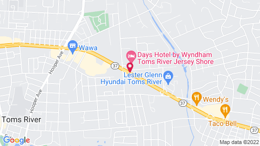 Days Hotel by Wyndham Toms River Jersey Shore Map