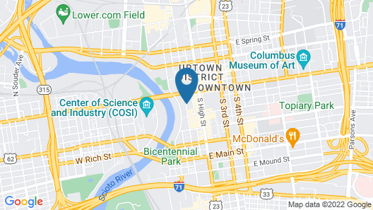 DoubleTree Suites by Hilton Columbus Downtown Map
