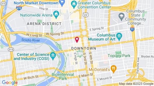 Residence Inn by Marriott Columbus Downtown Map