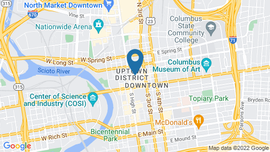 Residence Inn by Marriott Columbus Downtown Map