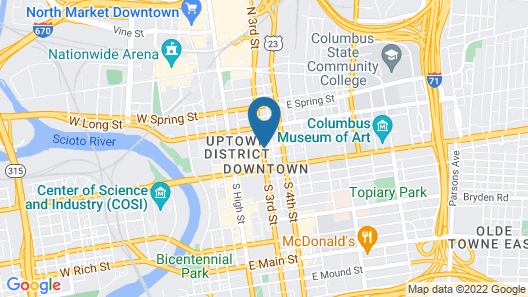 Renaissance Columbus Downtown Hotel Map