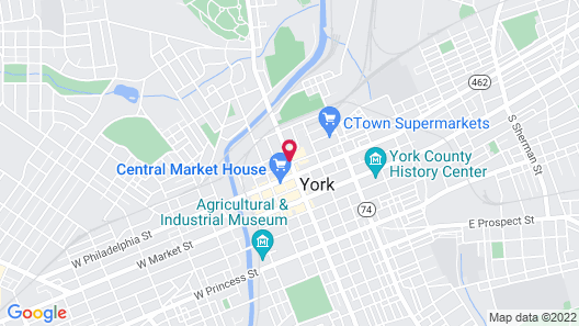 Red Roof Inn York Downtown Map