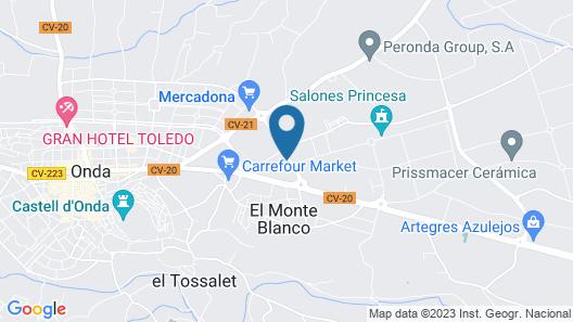 Hotel Onda Castellon Map