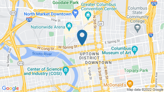 Courtyard by Marriott Columbus Downtown Map