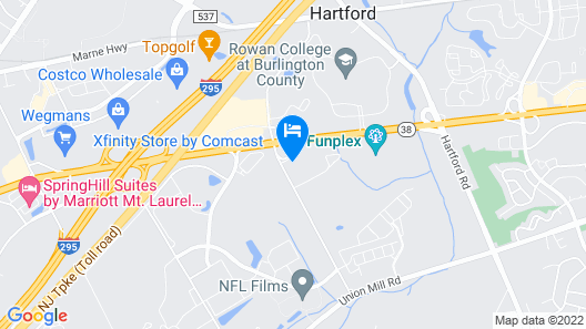 Hampton Inn & Suites Mount Laurel/Moorestown, NJ Map