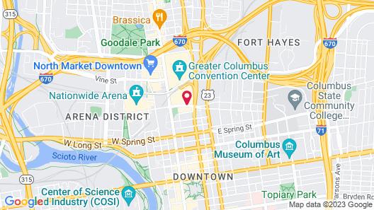 Drury Inn & Suites Columbus Convention Center Map