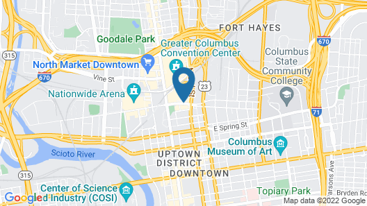 Drury Inn & Suites Columbus Convention Center Map