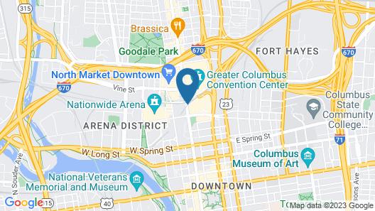 Hyatt Regency Columbus Map