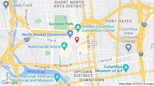 Hilton Columbus Downtown Map