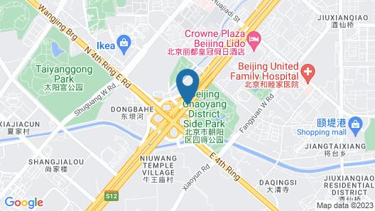 Metropark Lido Hotel Beijing Map