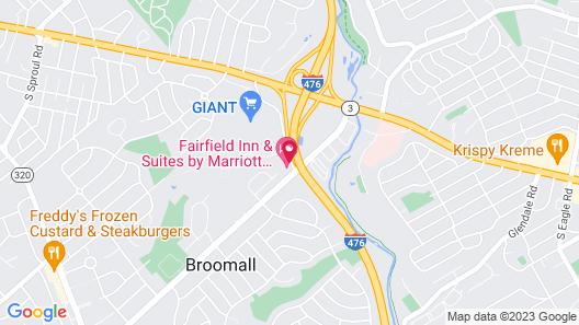 Fairfield Inn & Suites Philadelphia Broomall/Newtown Square Map