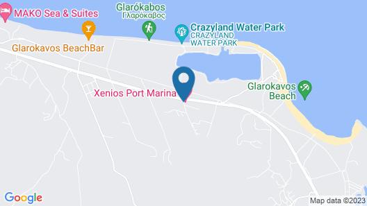 Xenios Port Marina Hotel Map