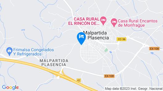 Casa Rural Las Eras de Monfragüe Map