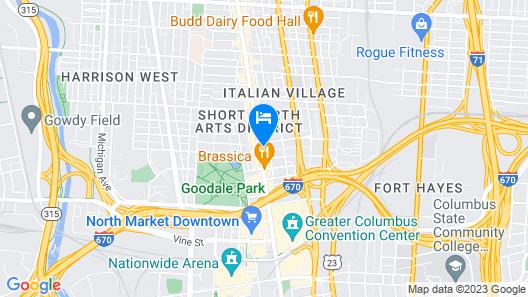 Graduate Columbus Map