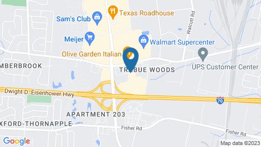 Hampton Inn Columbus-West Map
