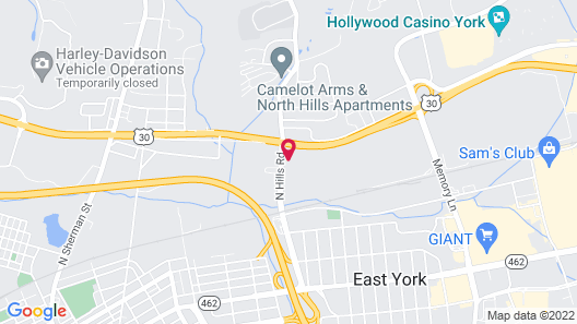 Candlewood Suites York, an IHG Hotel Map