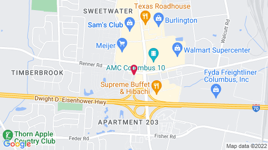 Hawthorn Suites by Wyndham Columbus West Map