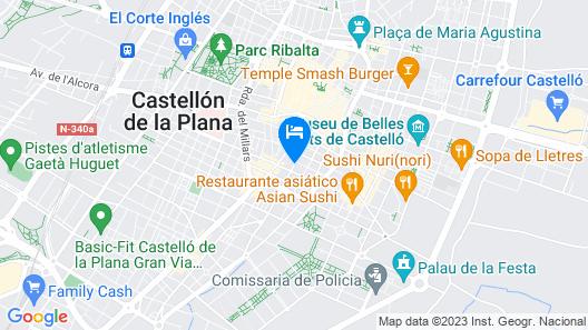 Hotel Intur Castellon Map
