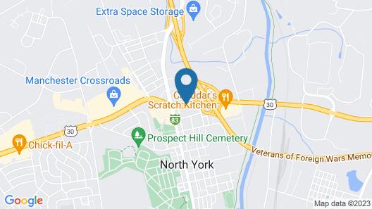 Motel 6 York, PA - North Map