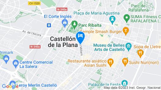 Tryp Castellón Center Hotel Map