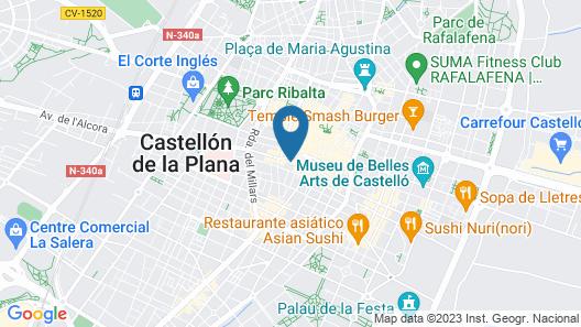 SI Rooms Puerta del Sol Map