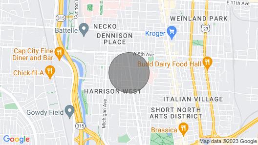 Urban Oasis in Short North Near Ohio State University, Grandview Yard Map