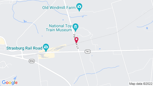 Red Caboose Motel Map