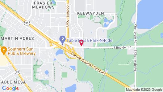Fairfield Inn & Suites by Marriott Boulder Map