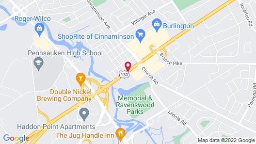 Sleep Inn Cinnaminson Philadelphia East Map