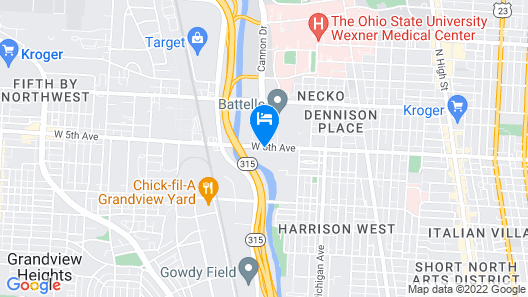 Hyatt House Columbus / OSU Short North Map